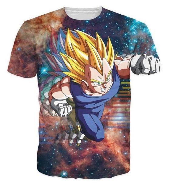 Women//Men Dragon Ball Z Goku Saiyan Galaxy 3D Print Casual T-Shirt Short Sleeve