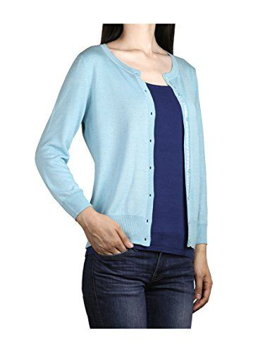 Zattitude Women's Lightweight Soft 3/4 Sleeves Cardigan Sweater ...