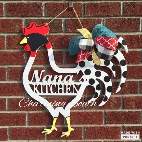 wooden kitchen rooster decor door hanger products rooster rh pinterest com