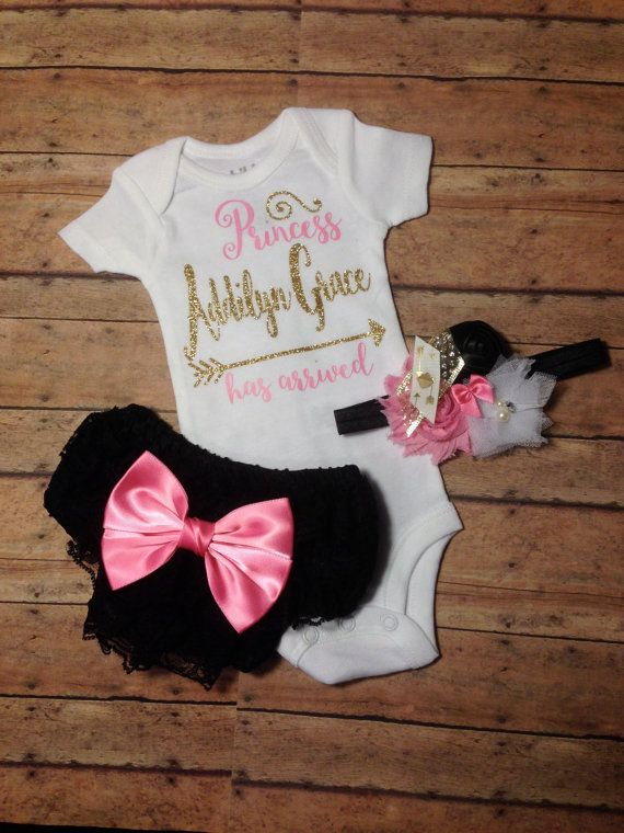 1a3503e46 Baby girl coming home outfit, newborn baby girl take home outfit ...