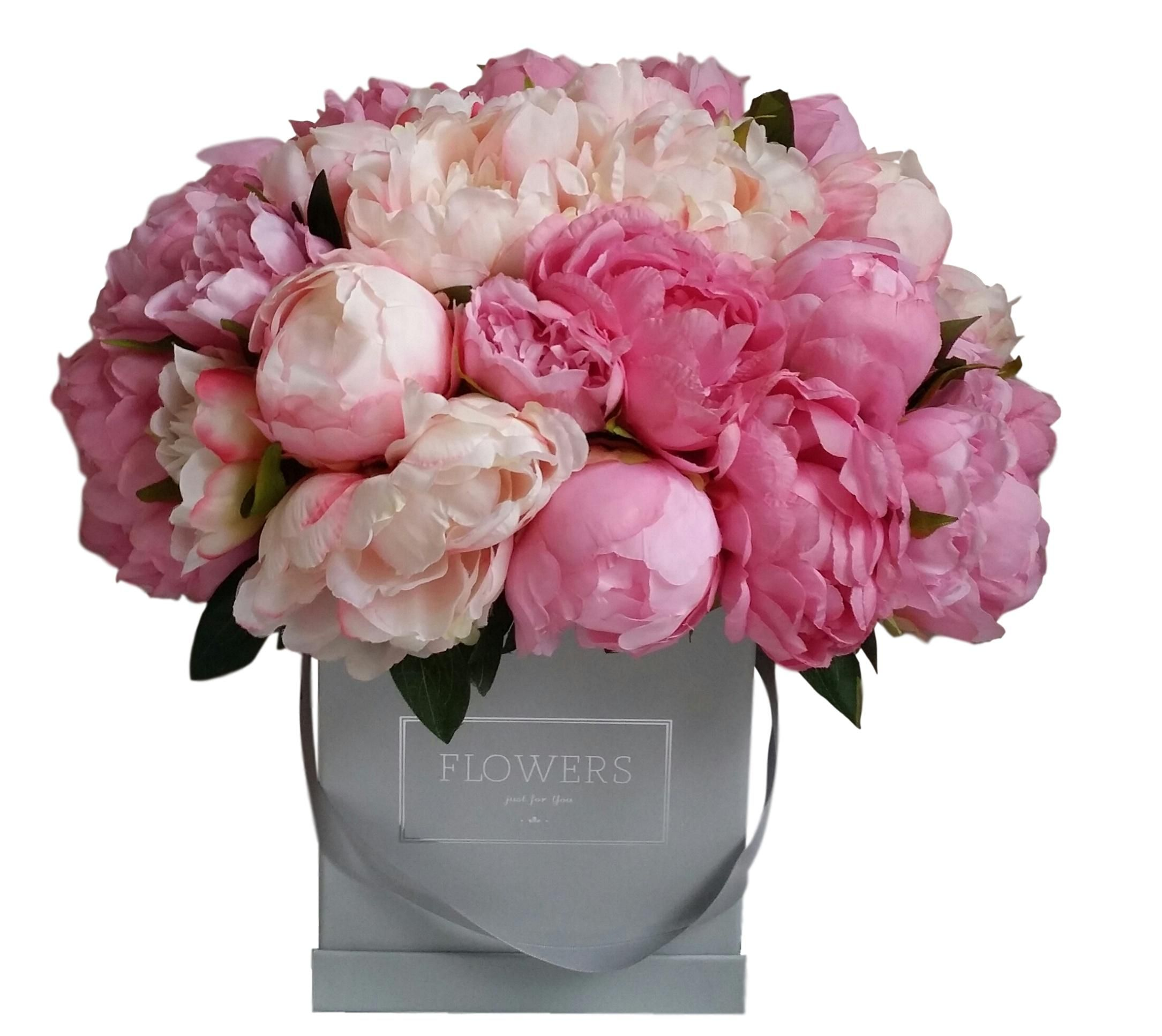 Flower Box Piwonia Piwonie Peonie Sztuczne Kwiaty 7424099288 Oficjalne Archiwum Allegro Flower Boxes Floral Wreath Floral