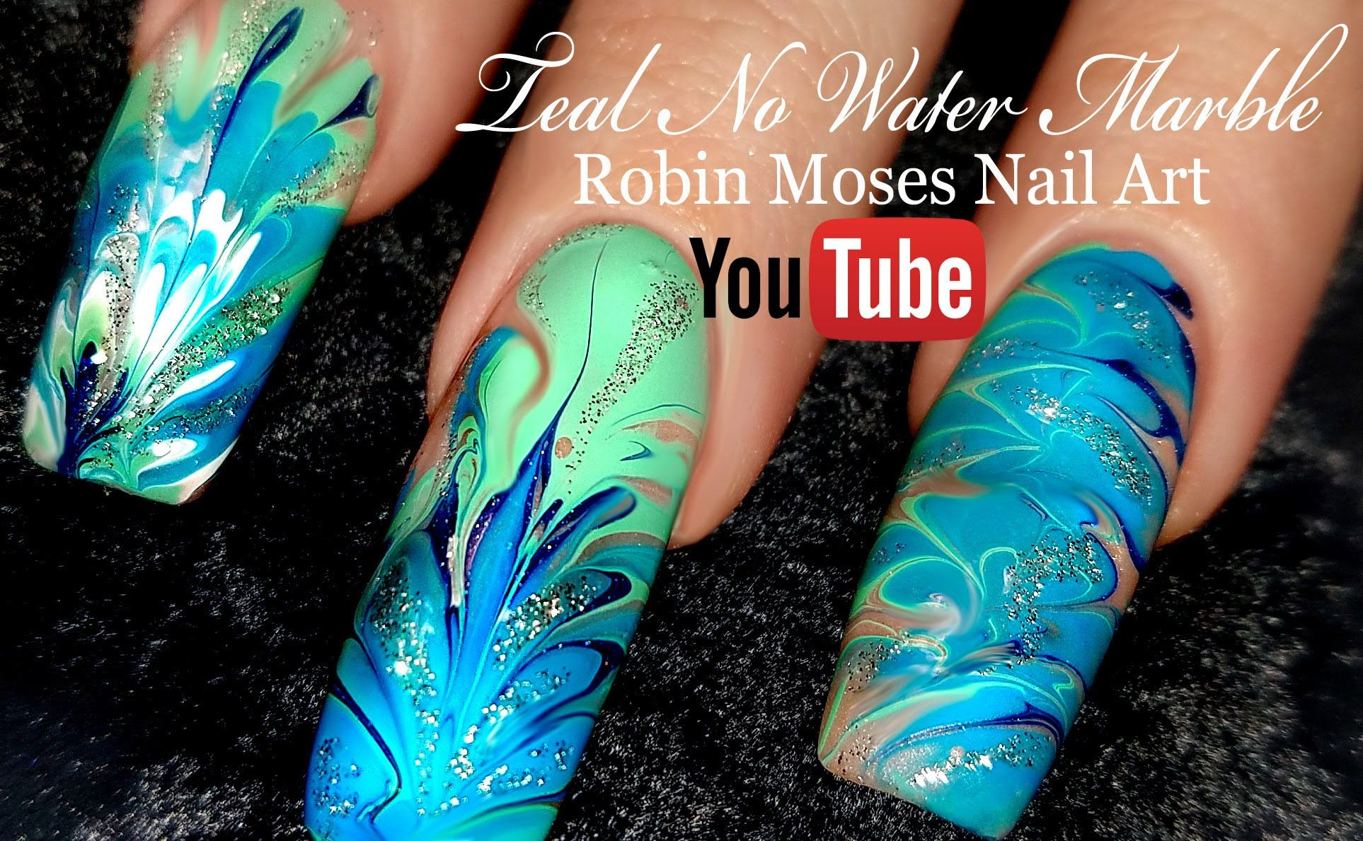 No Water Needed - MINT MANI Diva DIY Drag Marble nail art Tutorial ...