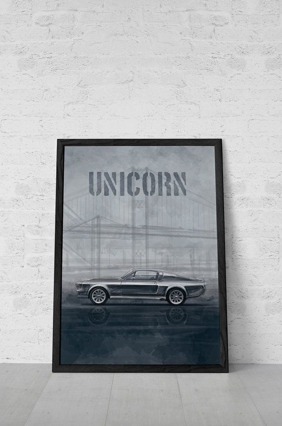 Ford Mustang Poster Eleanor Movie Poster Inspired By Gone In 60 Seconds Printable Art Wall Decor Illustration Mustang Movie Mustang Decor Built Ford Tough