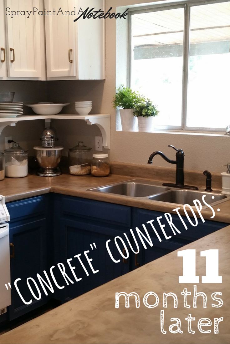 Concrete Countertops 11 Months Later Diy Ardex Feather Finish Concrete Over Laminat Concrete Countertops Kitchen Diy Concrete Countertops Diy Kitchen Remodel