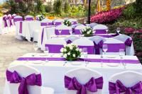 The pros and cons of both indoor and outdoor reception venues.