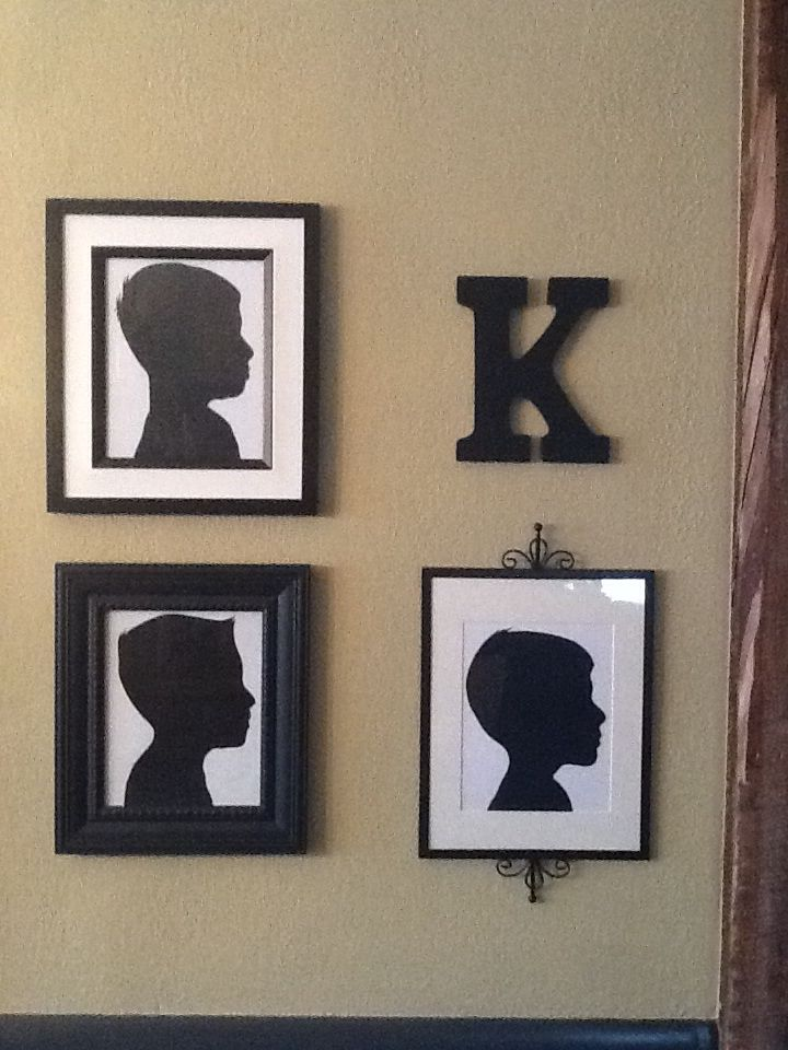 Silhouette picture of boys