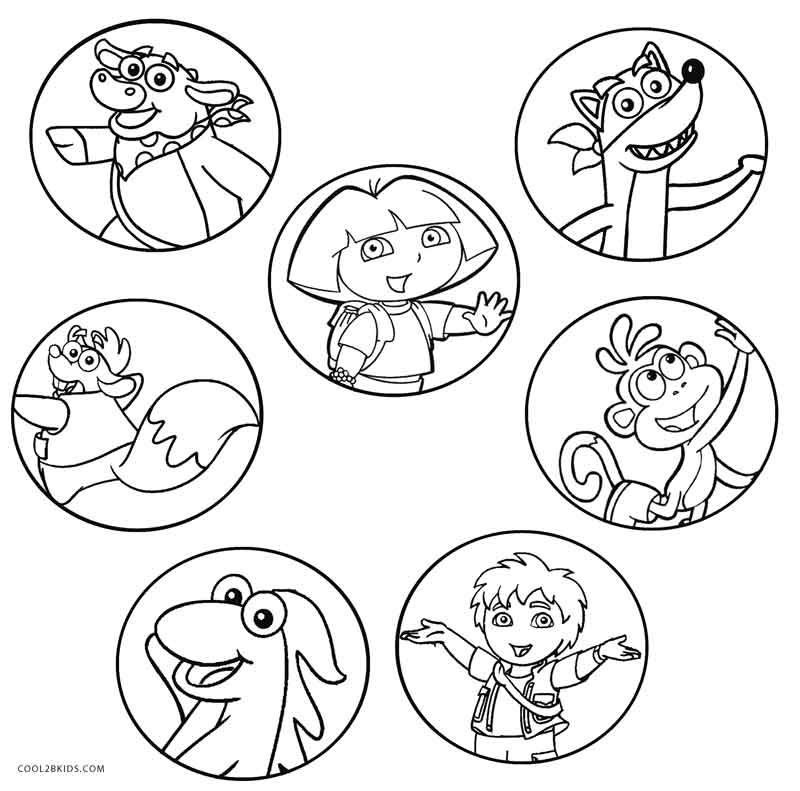 Christmas Coloring Pages Nick Jr In 2020 Christmas Coloring Pages Dora Coloring Coloring Pages