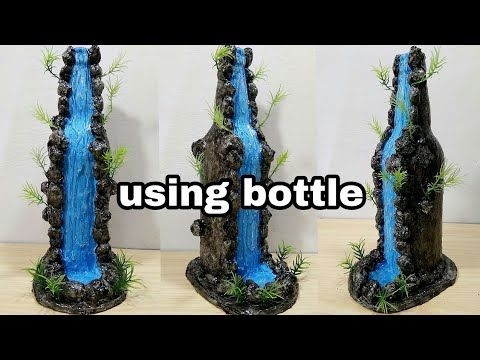 How To Make Fountain Waterfall Show Piece Fairy Garden Designs Fairy Garden Diy Bottle Crafts