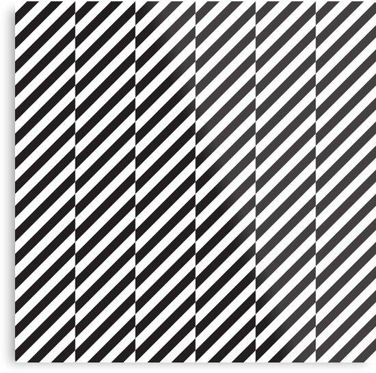 Black And White Diagonal Lines Pattern Metal Print By Kallyfactory Patterns Canvas Pattern Design Metal Prints