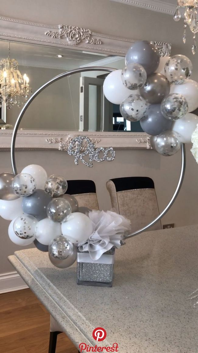 Balloon Ideas   Bespoke Hoop Centrepiece
