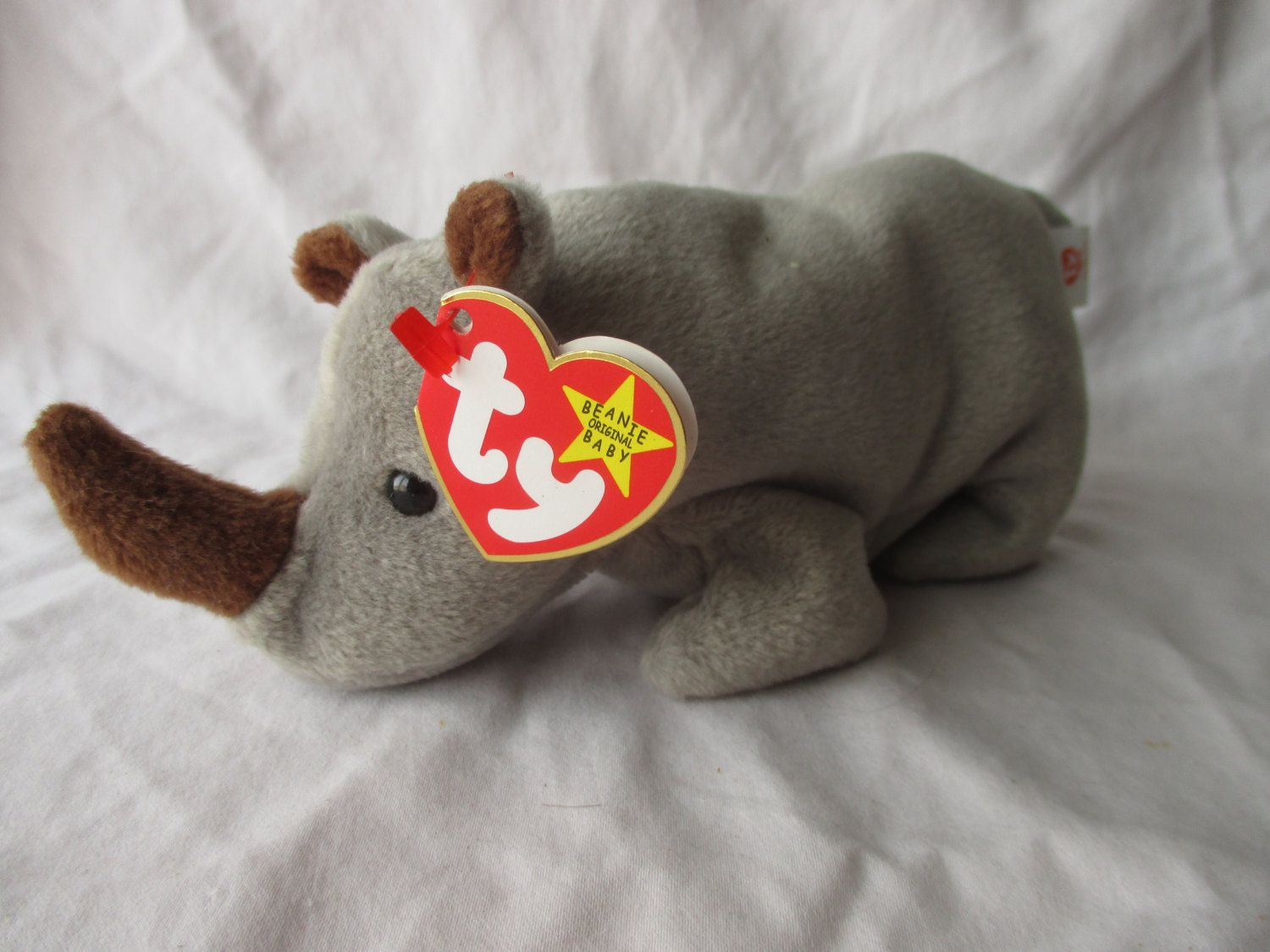 7262c47927a Vintage 1996 Beanie Baby Spike the Rhino by jclairep on Etsy