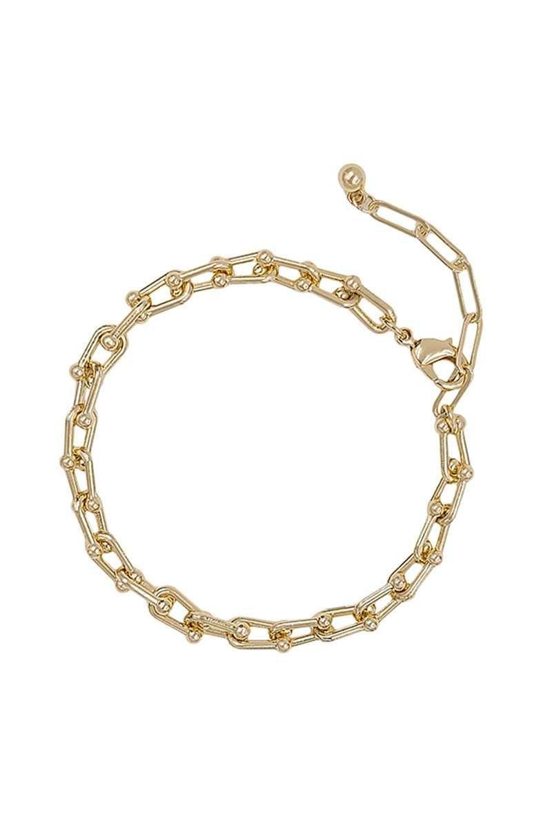Metal Unique Chain Bracelet - Gold