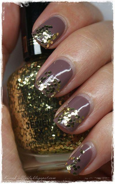 #Milani #Jewel FX #Gold + #Catrice Grey's Kelly, #Glitter, #Gold