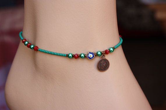 Emerald  Lilac Lilac Blue and Turquoise  Seed by MonroeJewelry
