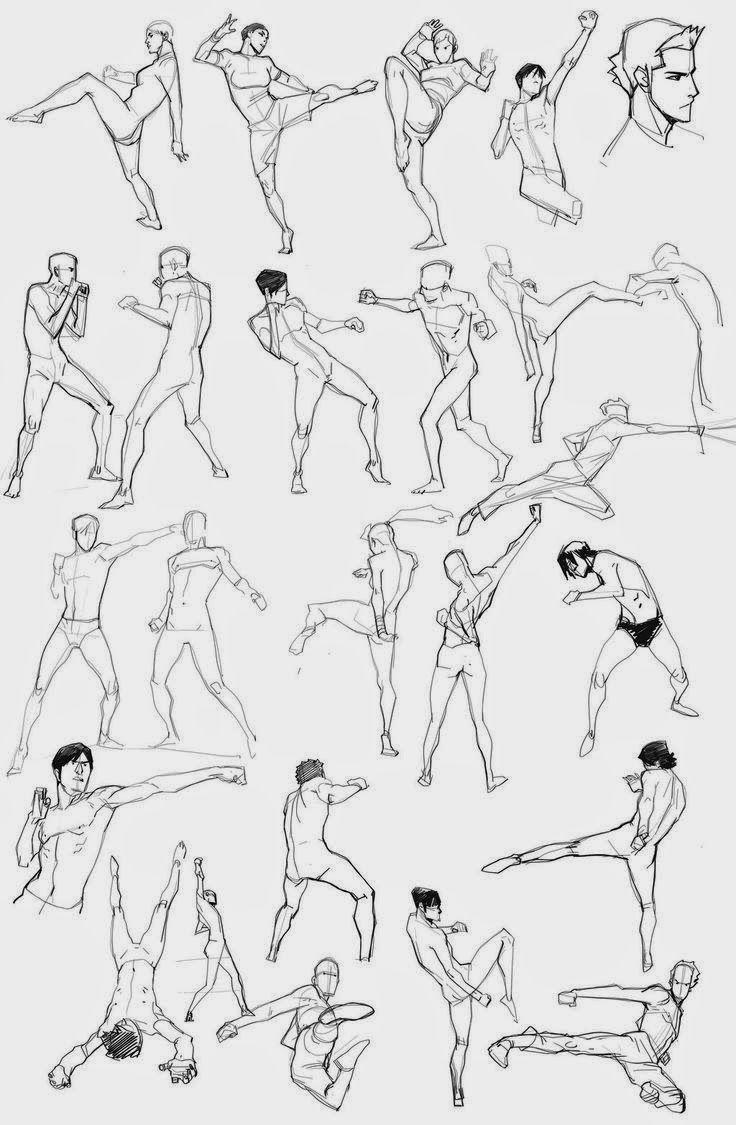 Artes 10 Referencias Para Peleas Epicas Poses De Combate Poses Anime Referencias De Diseno De Personajes