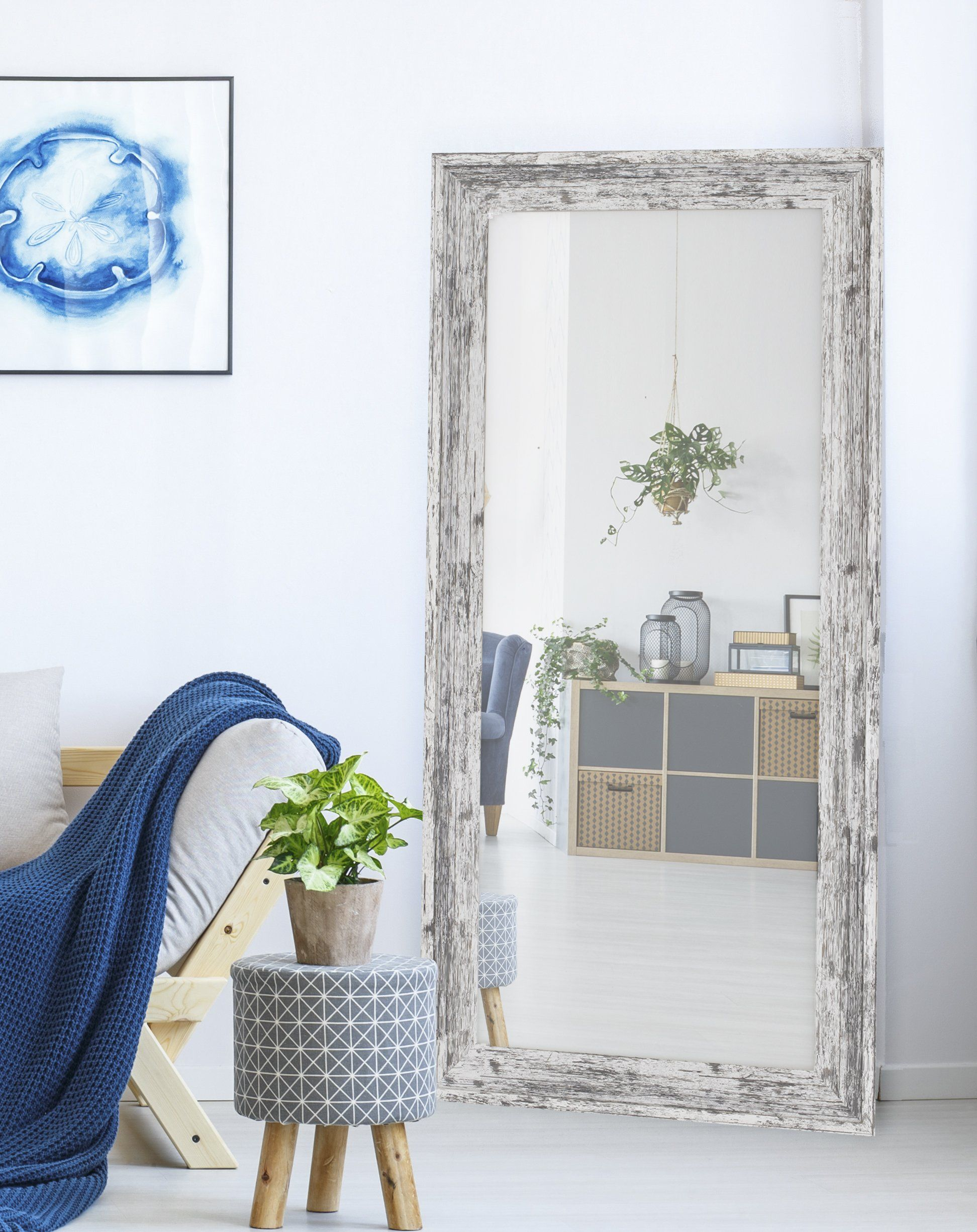 Hitchcock Butterfield Farmstead White Wall Mirror Walmart Com White Mirror White Wall Mirrors White Room Decor