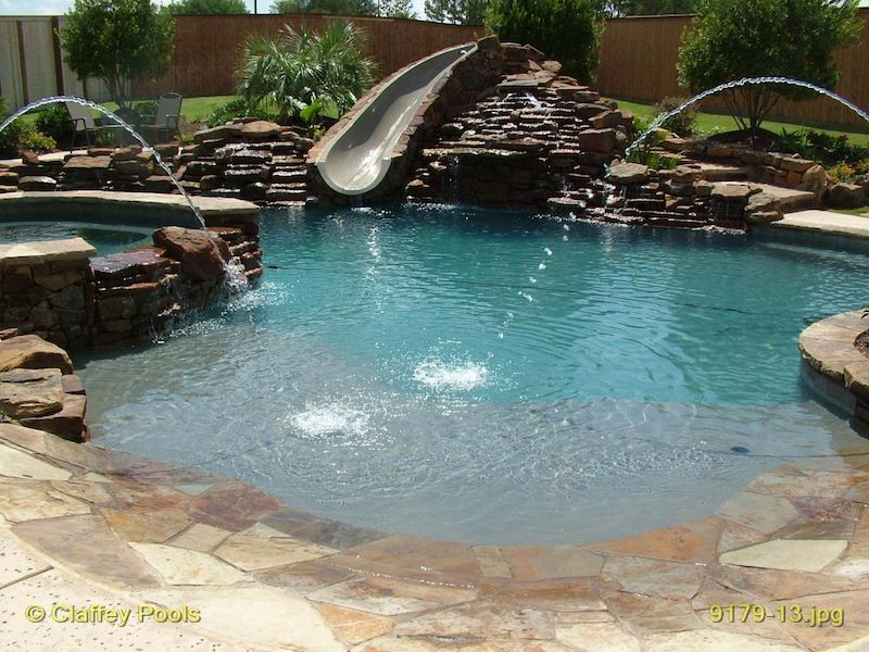 Beach entry custom swimming pools would love one of for Pool design with beach entry