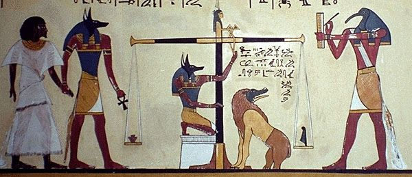 3 Weighing Of The Heart W Thoth Anubis Amemet Dead Pharaoh