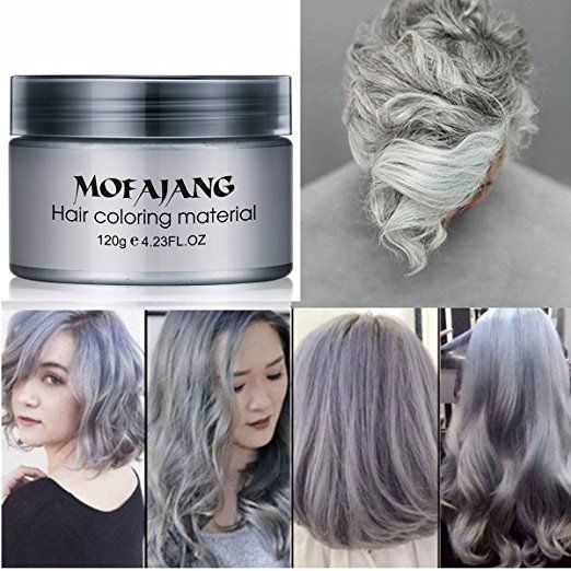 Silver Gray Hair Wax Natural Ash Matte Long Lasting Professional Strong Hair Lacquers Gel Cream 4 23oz For Men And Grey Hair Dye Grey Hair Wax Silver Grey Hair