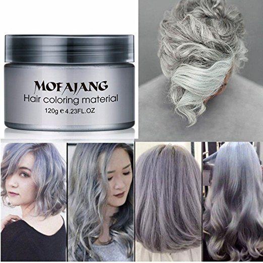 Silver Gray Hair Wax Natural Ash Matte Long Lasting Professional Strong Hair Lacquers Gel Cream 4 23oz For Men And Grey Hair Dye Grey Hair Wax Silver Grey Hair