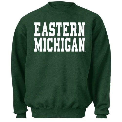 EMU Eastern Michigan Blocky Crewneck At Campus Den