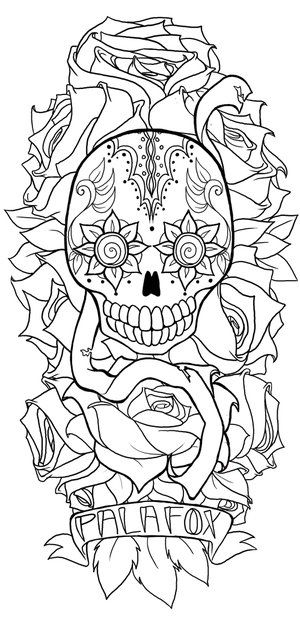 Labels Happy Sugar Skull Tattoo Sleeve Tattoo Tattoo Designs Tattoos For Half Sleeve Tattoo Unique Half Sleeve Tattoos Half Sleeve Tattoos Designs