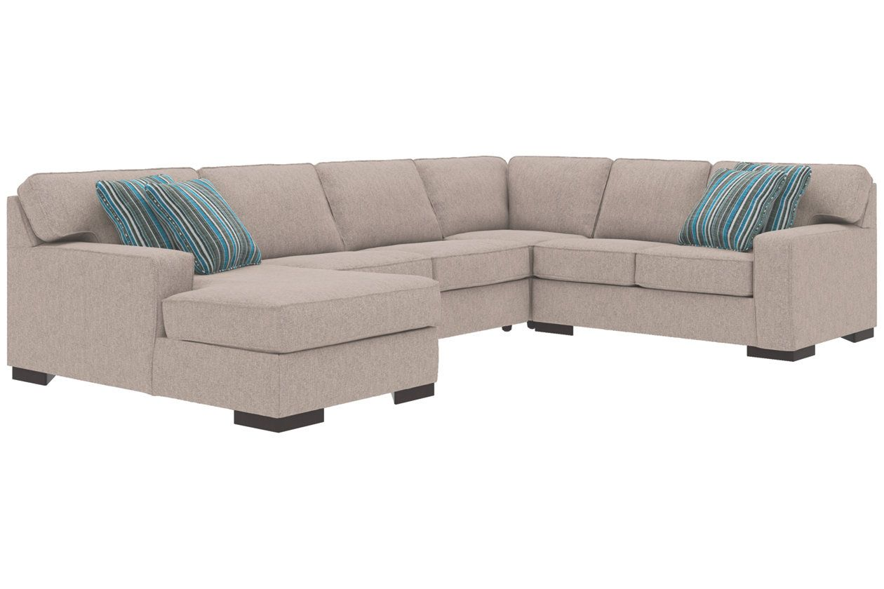 Ashlor Nuvella 4 Piece Sleeper Sectional And Pillows Ashley Furniture Home