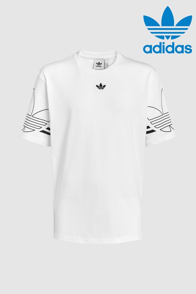 3d1a529e Mens adidas Originals Outline Tee - White in 2019 | Products ...