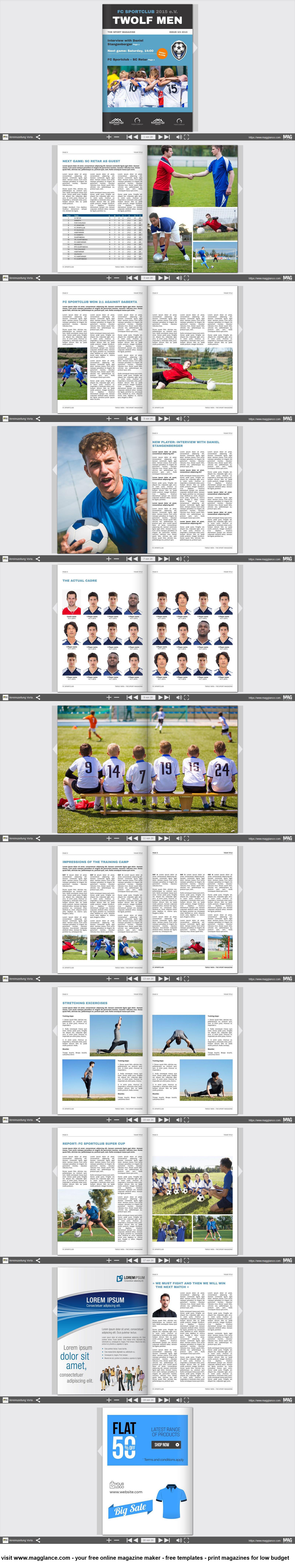 Vereinszeitung Kostenlos Online Erstellen Und Gunstig Drucken Unter Https De Magglance Com Vereinszeitung Vorlage Zeitung Magazin Ve Zeitung Verein Online