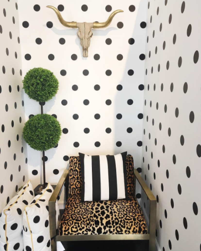 Polka Dot Wallpaper in 2019 | Polka dot walls, Room ...