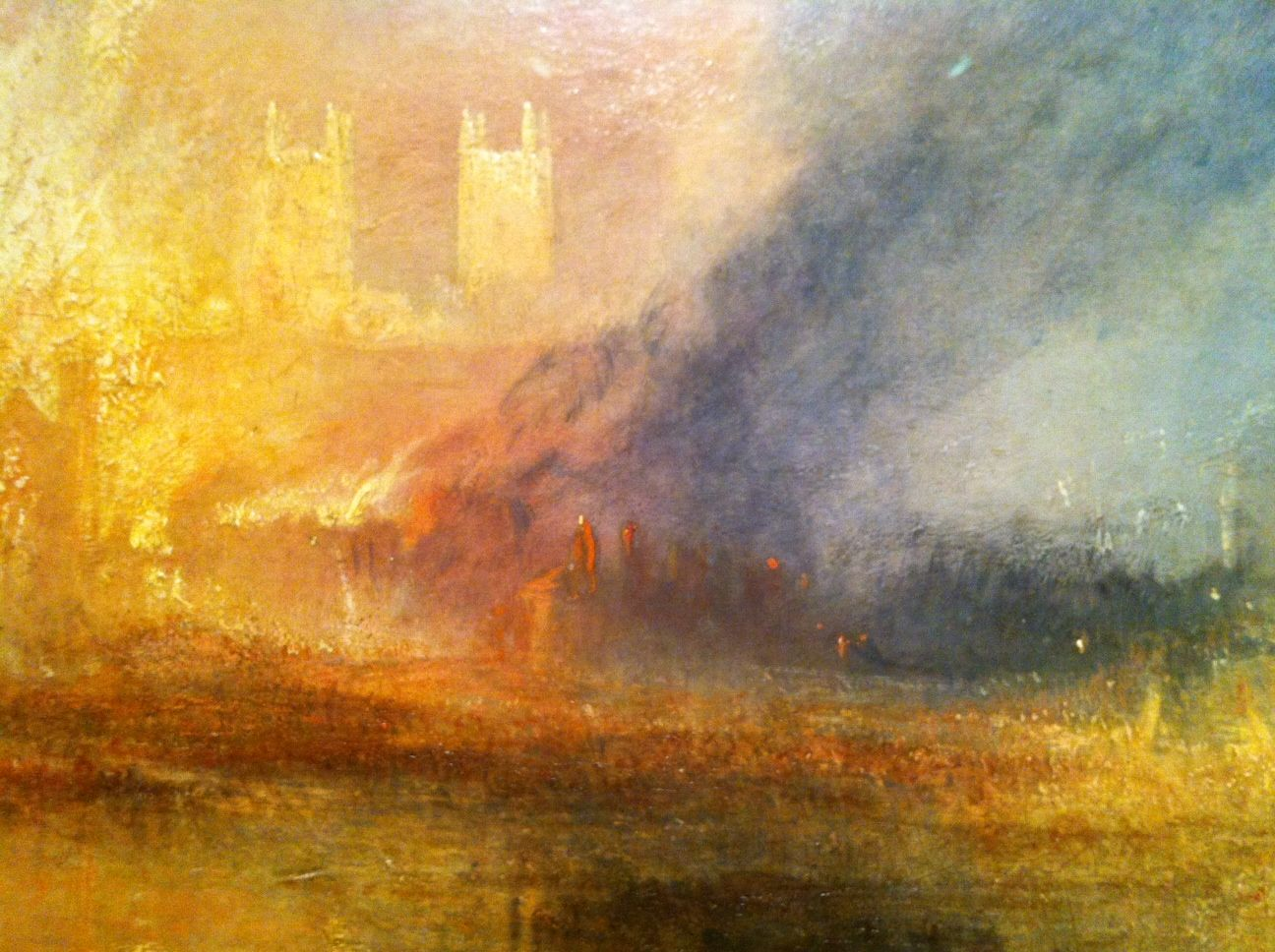 J m w turner the burning of the houses of lords and for Oil paintings of houses