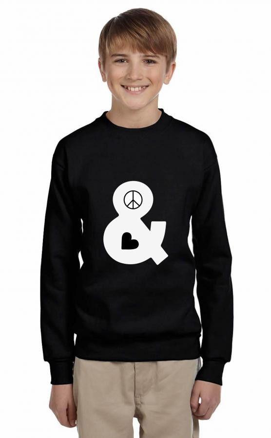 peace and love Youth Sweatshirt