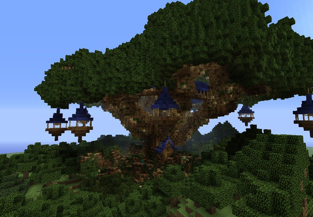 Fortress Tree House Minecraft Map Minecraft Treehouses