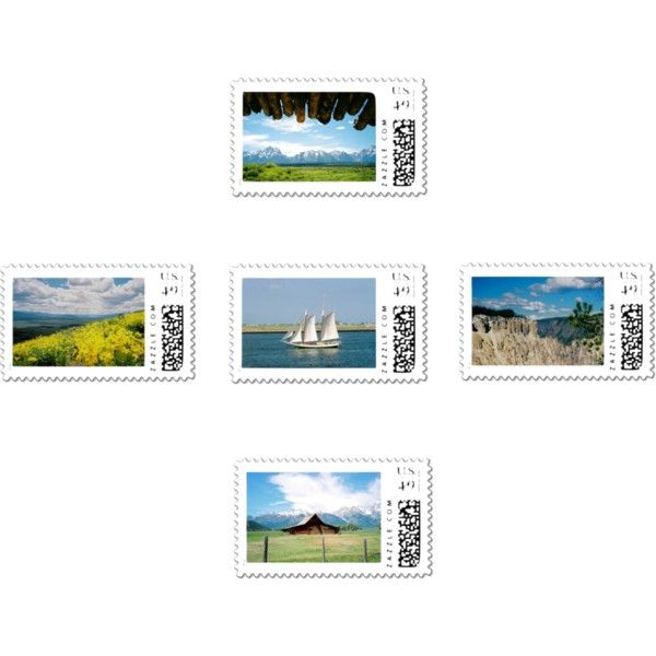 """Postage Stamps on Zazzle!"" by dww25921 on Polyvore"
