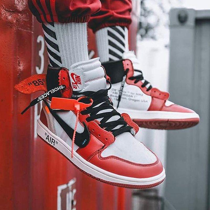 Nike Air Jordan 1 X Off White Aj1 L Limited Edition Com Imagens