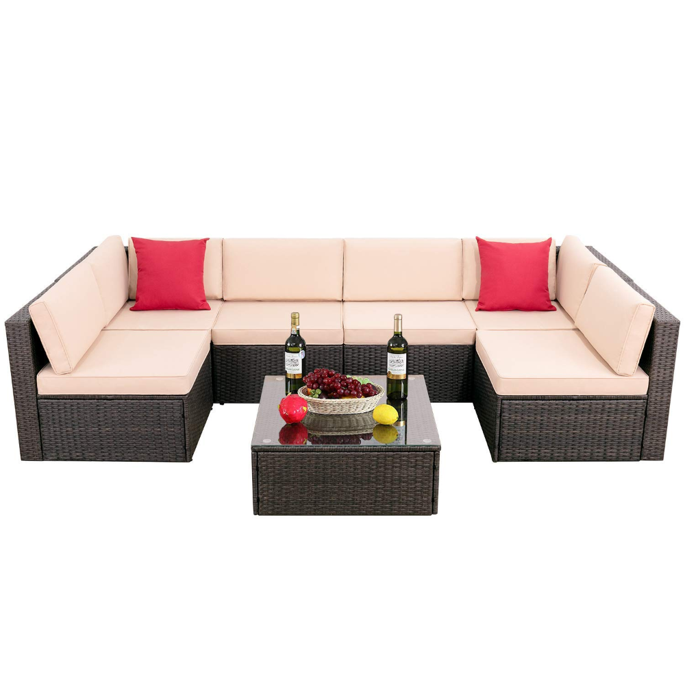 Patio Garden In 2020 Outdoor Sectional Sofa Patio Furniture Sets Seating Groups