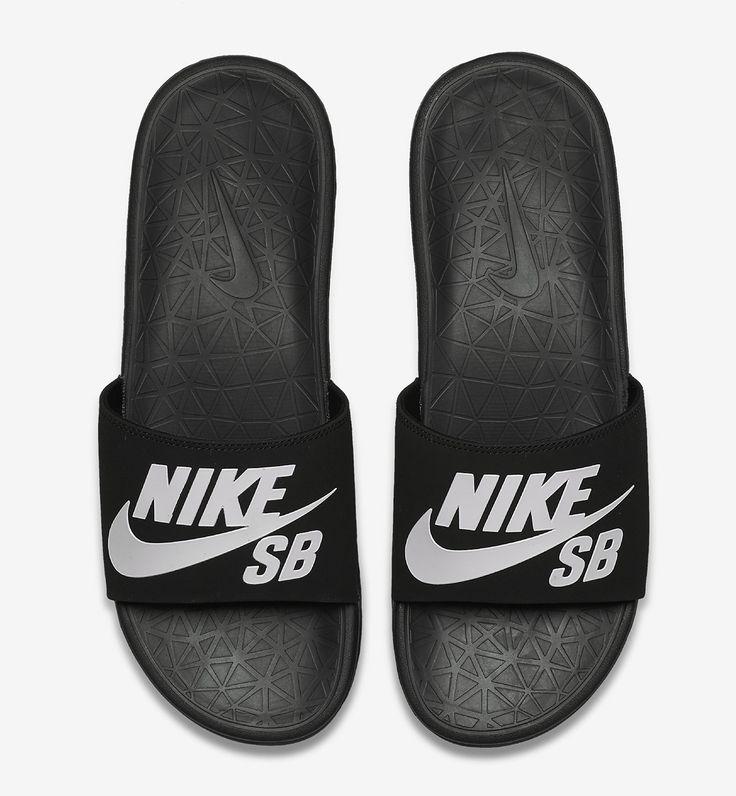 Nike SB Benassi Solarsoft Black/White - EU Kicks Sneaker Magazine The Best  of sandals