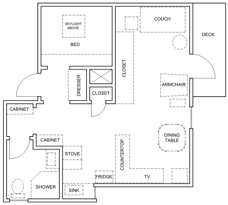 A Teeny But Impressively Organized Studio Apartment ...