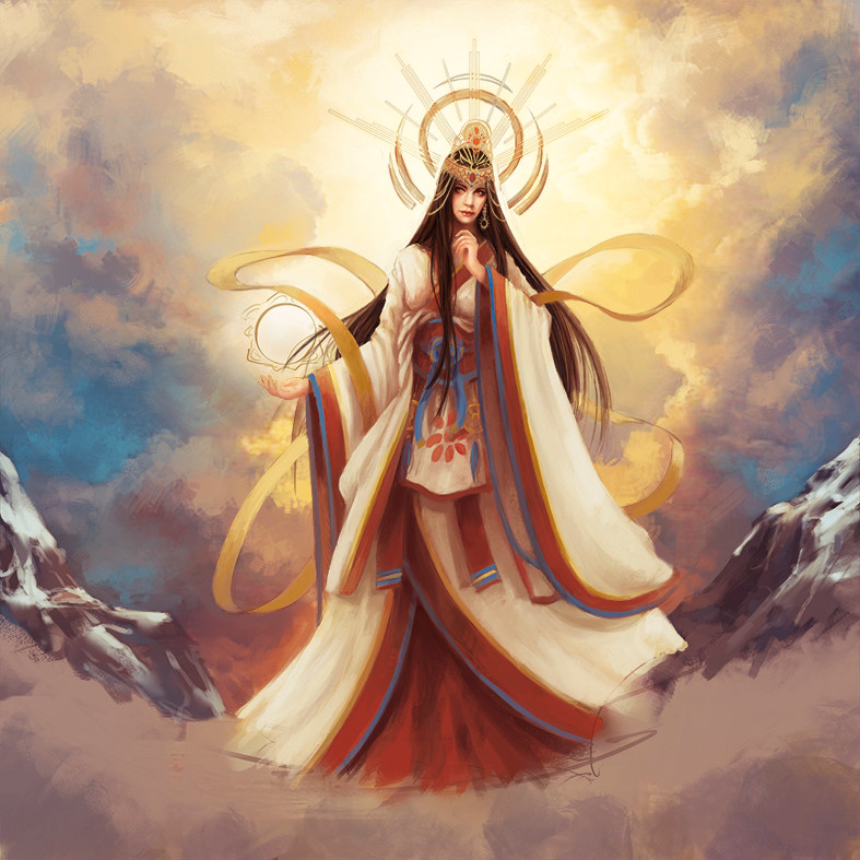 Amaterasu | Japanese mythology, Amaterasu, God art