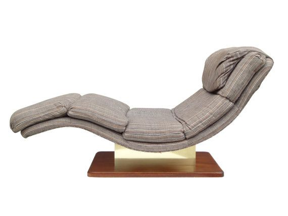 Usa 1970s Ultra Comfortable Wave Chaise Lounge After Milo Baughman Made By Carsons Of High Point S Shaped Generously Wide Design With A