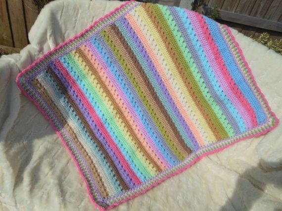 Baby crochet blanket new baby girl gift by DelightfulcraftsbyMG