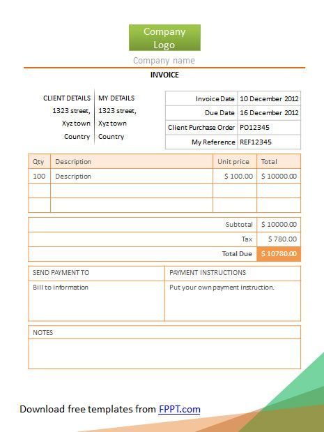 01-simple-invoice-powerpoint-templatejpg (465×619) Invoice - are invoice and purchase order the same