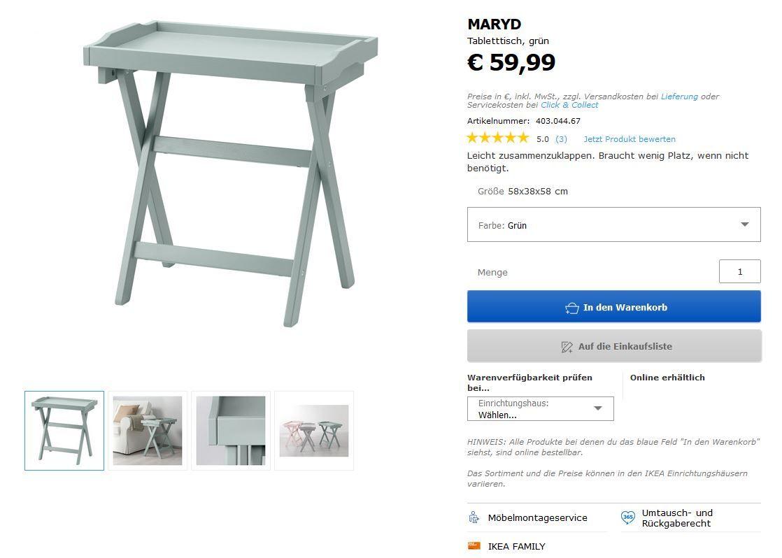 tabletttisch maryd grün | strandzimmer | pinterest | ikea und catalog