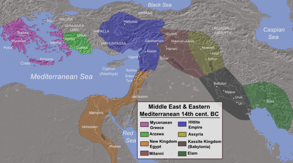 Image result for ancient bronze age  map