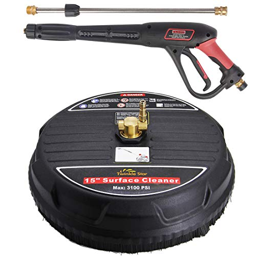 Twinkle Star 15 Pressure Washer Surface Cleaner with Pressure Washer Trigger Gun 4000PSI 21 Inch Pressure Washer Wand
