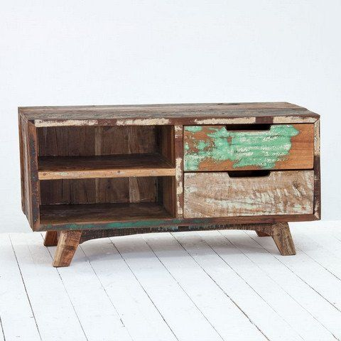 The Marius Driftwood Tv Cabinet Is Great For Adding A Little Colour To Your Living E Handmade Using Upcycled Boat Wood Each Truly Unique
