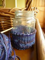 two fav things: canning jars and knitting!