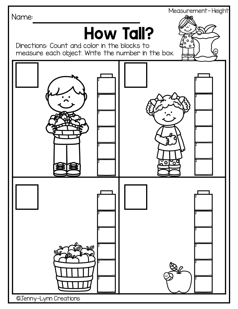 fall halloween measurement di 39 s pre k kindergarten math math measurement math worksheets. Black Bedroom Furniture Sets. Home Design Ideas