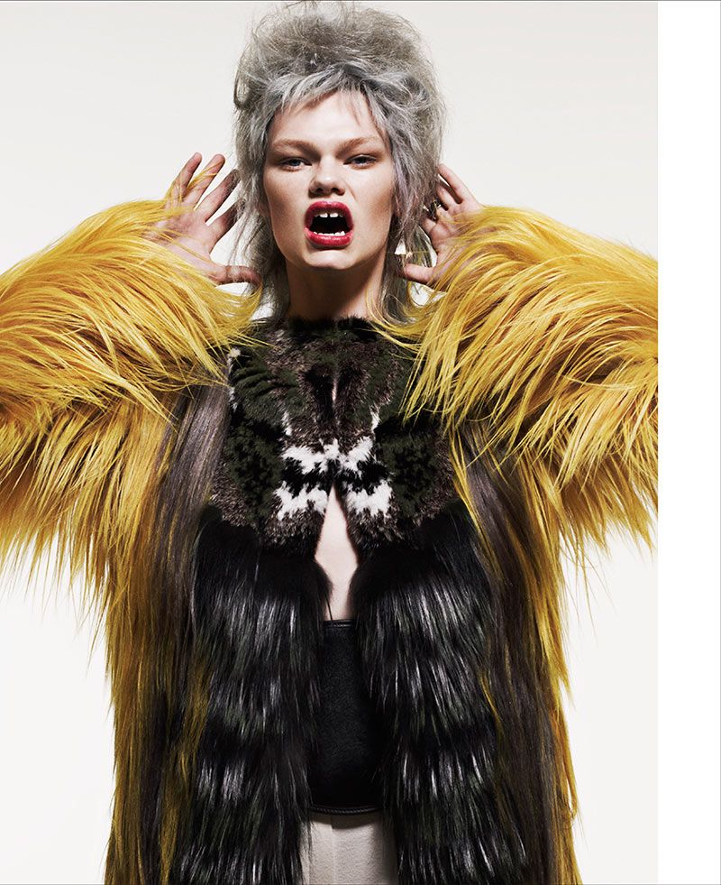 Tom Boy Kelly – Tak Sugita captures Kelly Mittendorf for the latest cover shoot of Razor Red Magazine. Styled by Takao, Kelly wears an array of looks ranging from tom boy chic to ladylike sophistication. A selection of wigs in various colors and lengths complements each ensemble.