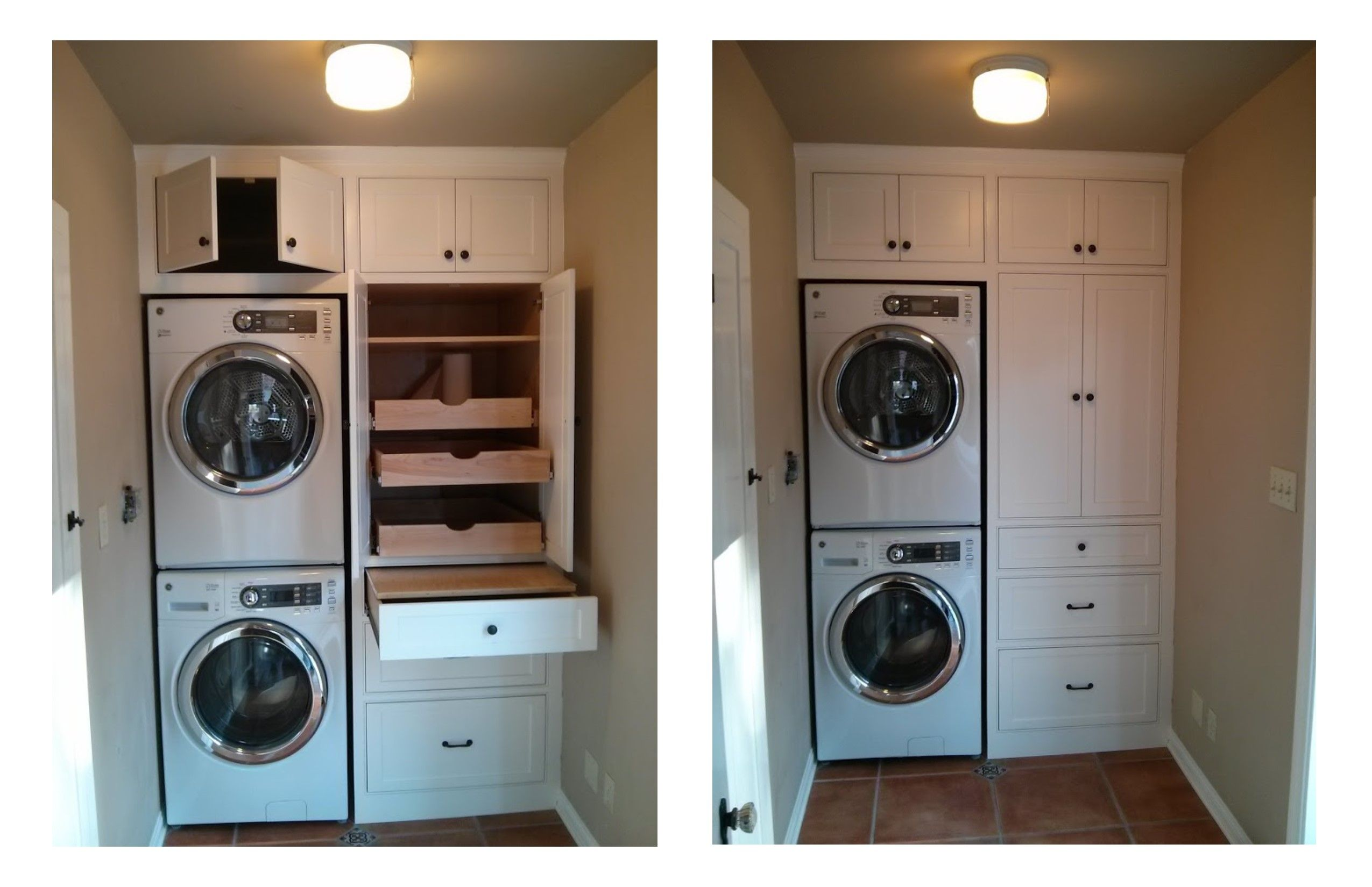 This Is A Built In Laundry Cabinet This Cabinet Has A Hidden Folding Table In The Top Drawer Open Plan Kitchen Living Room Laundry Cabinets Laundry Mud Room